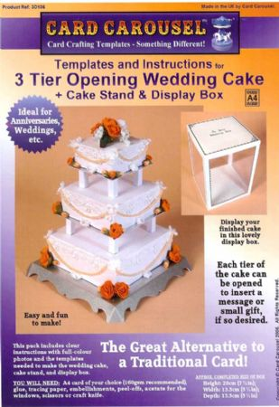 3 Tier Wedding Cake Gift Box Template From Card Carousel